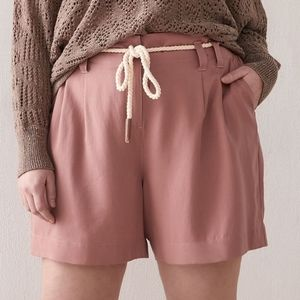 Additionelle   High-Waist Lyocell Shorts